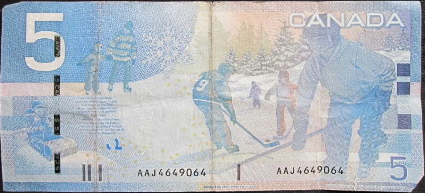 Canadian Five Dollar Note Pre-2011