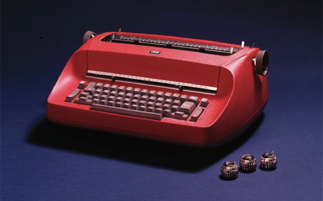 Red IBM Selectric