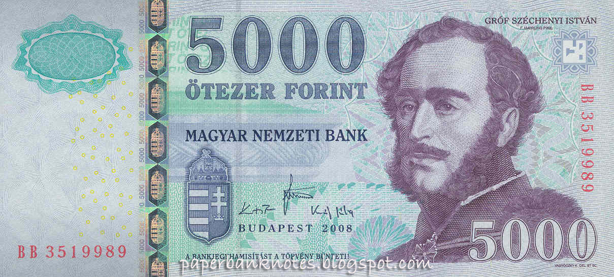 5000 Forint Bank Note